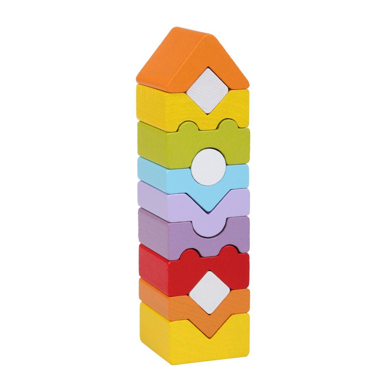 CUBIKA 14996 Věž XI - dřevěná skládačka 12 dílů