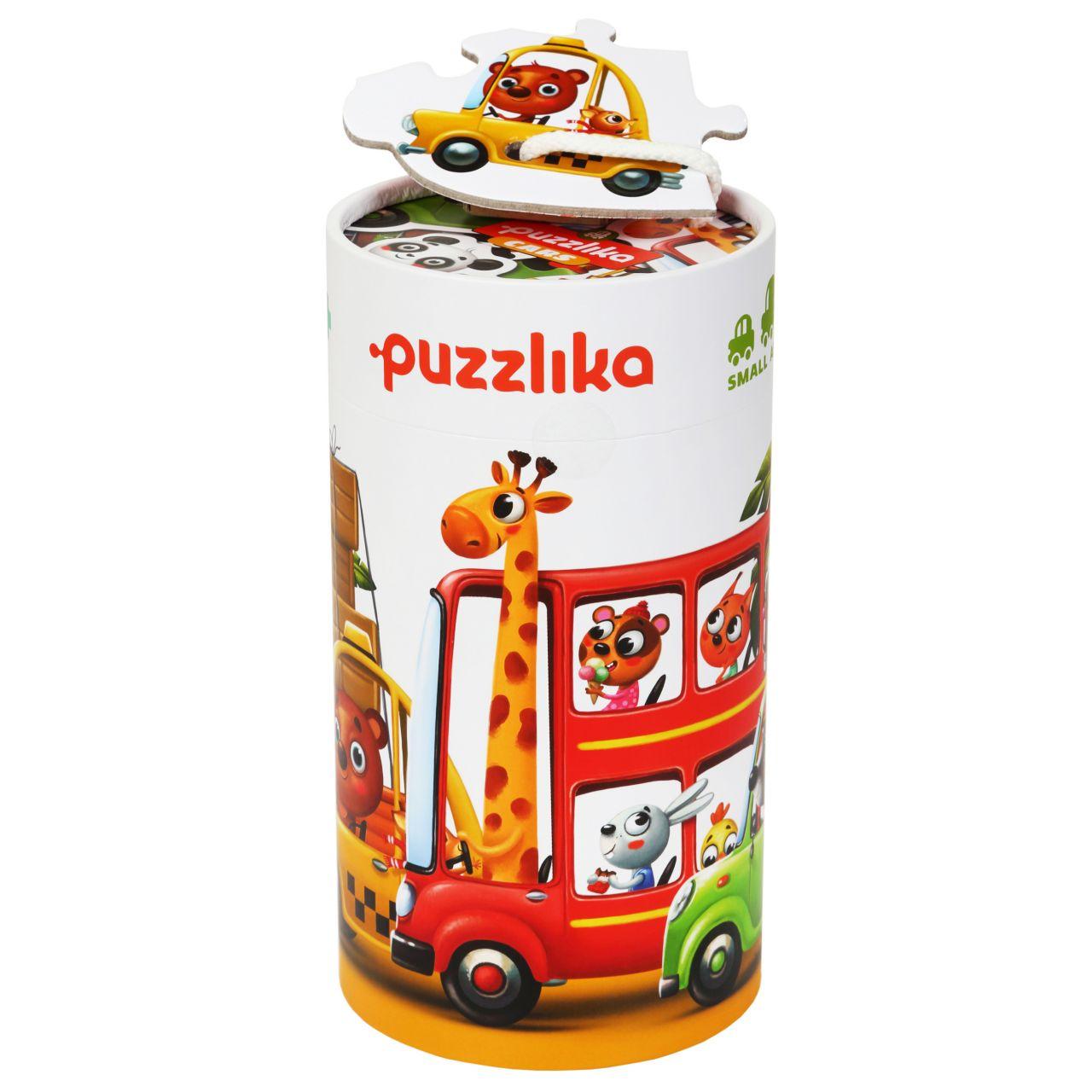 Puzzlika 13784 Auta - puzzle 5 obrázků 20 dílků