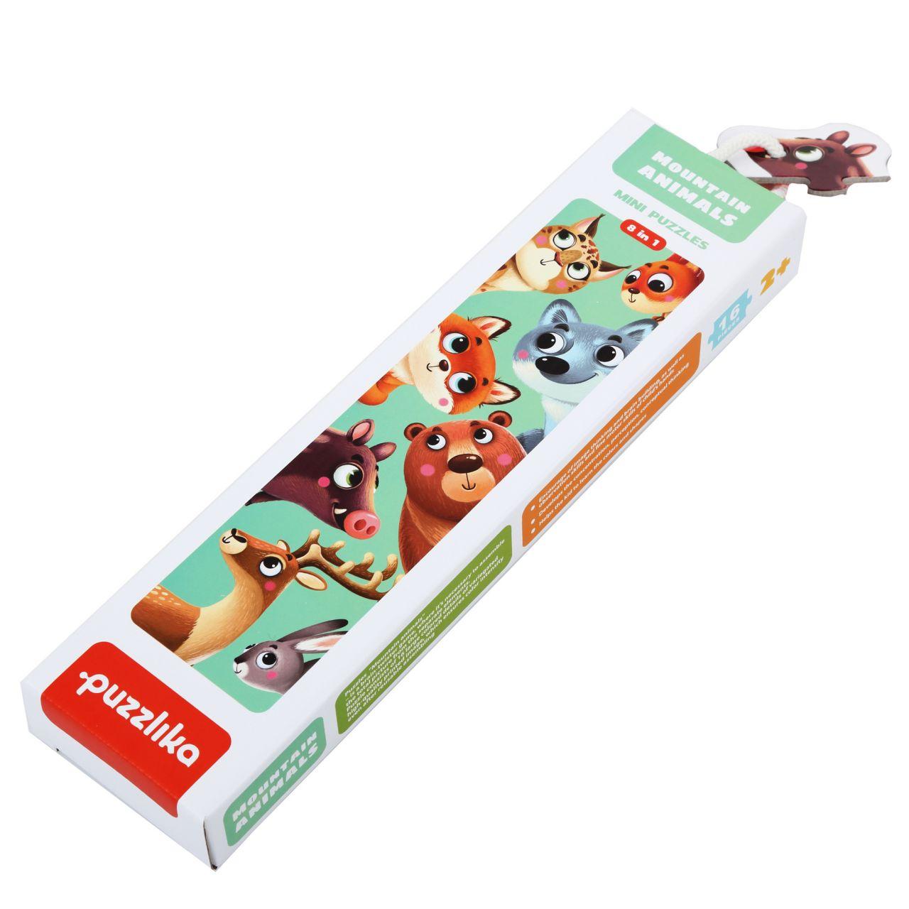 Puzzlika 14798 Lesní zvířátka - naučné puzzle 8 zvířátek - 16 dílků